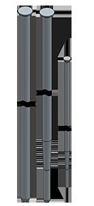 アースアンカー打設用の定尺ロッド