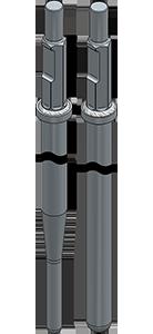 削岩機打設用アースアンカー定尺ロッド