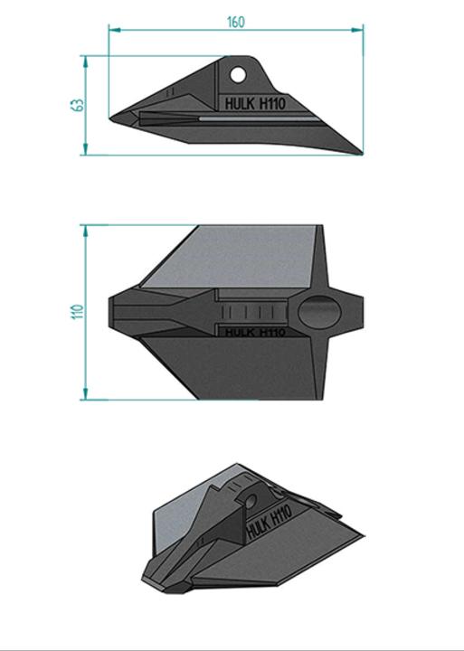 ハルクアースアンカーH110寸法図