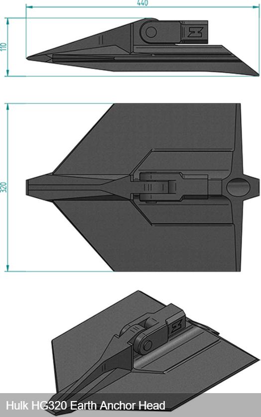 ハルクアースアンカーHG320寸法
