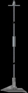 鋼棒を利用したアースアンカーシステム