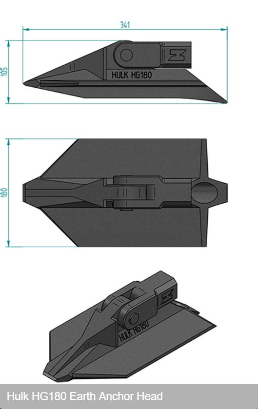 ハルクアースアンカーHG180寸法図