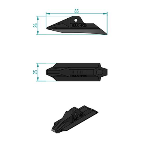 ハルクアースアンカーHP25寸法図